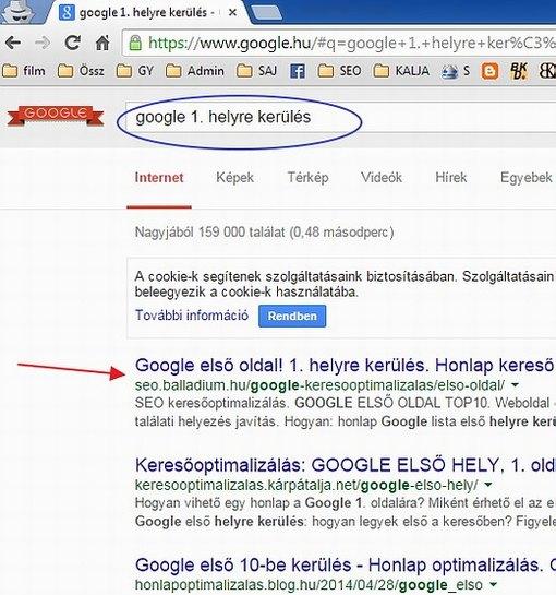 b06a2887a1 Google első oldal, első helyre kerülés. Honlap keresőoptimalizálás ...